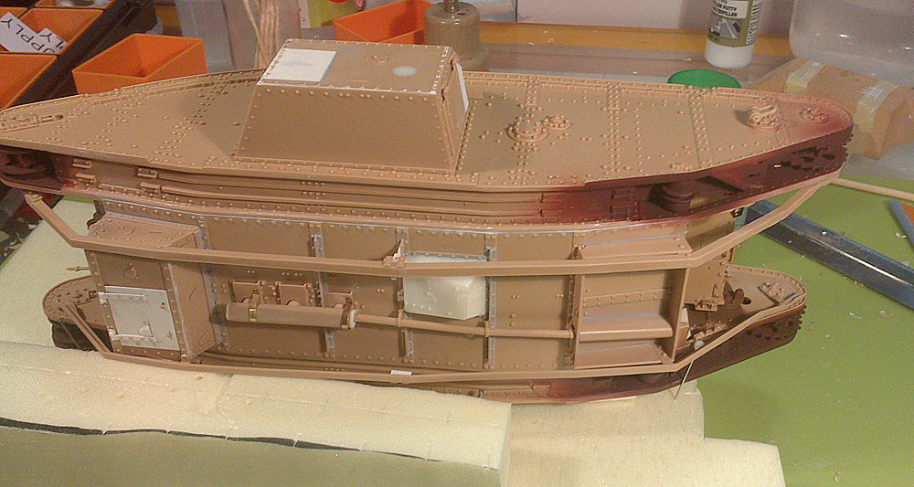 Wip Converting A Takom Male Mk Iv Into A Supply Tank